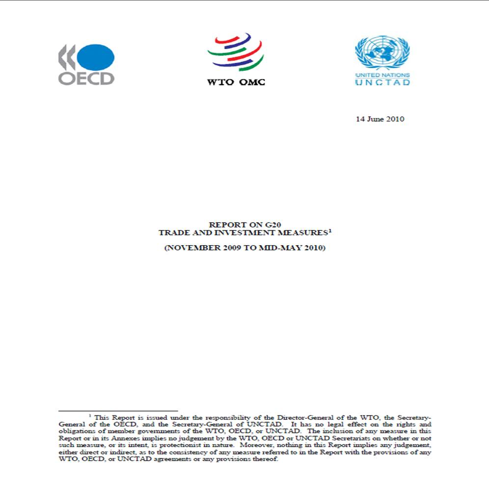 Third Report on G20 Investment Measures
