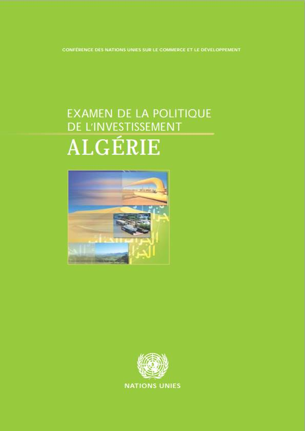 Investment Policy Review of Algeria