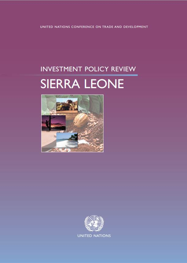 Investment Policy Review of Sierra Leone