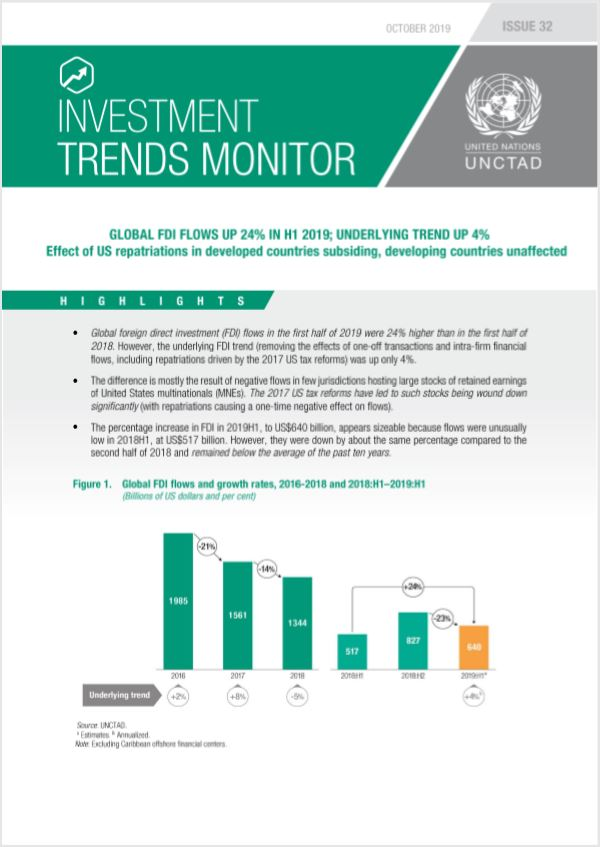 Global Investment Trends Monitor No. 32