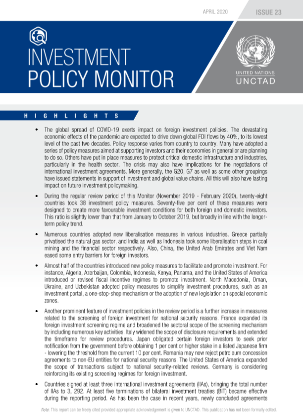 Investment Policy Monitor No. 23