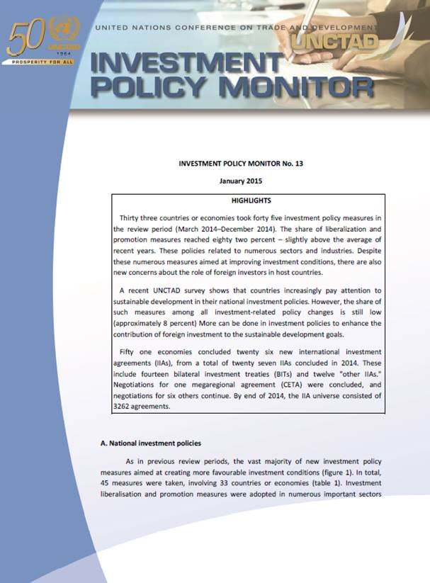 Investment Policy Monitor No. 13