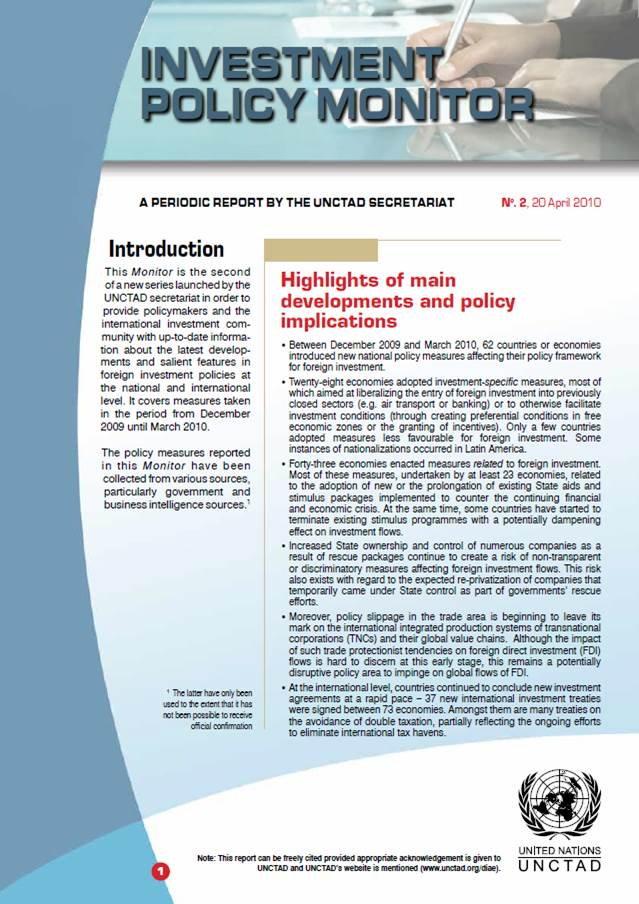 Investment Policy Monitor No. 2