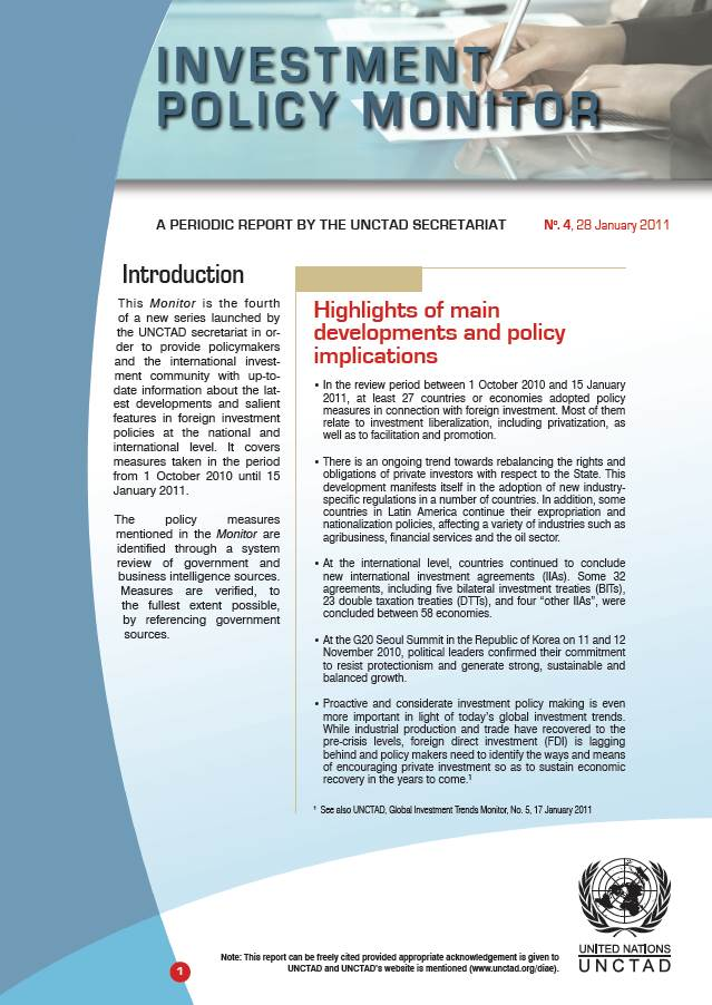 Investment Policy Monitor No. 4