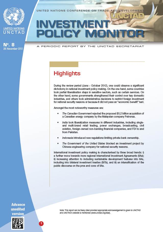 Investment Policy Monitor No. 8